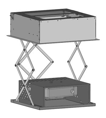 Lift for large projectors