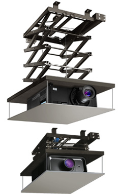 Lifts for large projectors